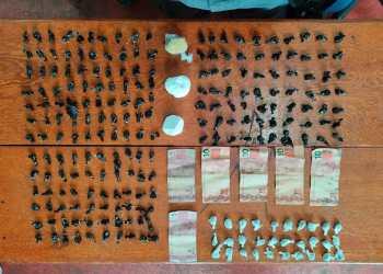 Polícias Civil e Militar prendem dois por tráfico de drogas no município de Anamã