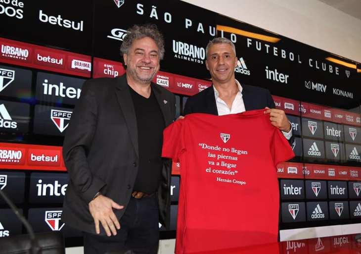 Hernán Crespo é apresentado como novo técnico do São Paulo