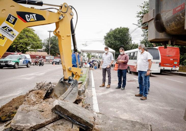 Prefeitura de Manaus inicia nova revitalização na Djalma Batista