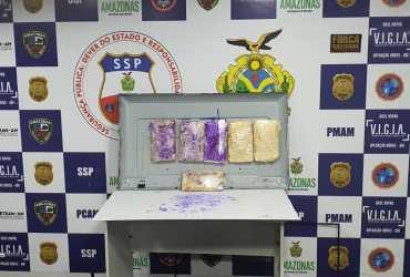 Base Arpão apreende drogas em TV e captura dois foragidos da Justiça