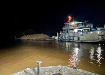 Base Arpão apreende mais de 400 metros cúbicos de seixo ilegal em Coari