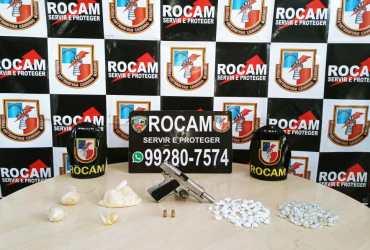Homem é preso por tráfico de drogas e porte ilegal de arma de fogo no bairro Redenção