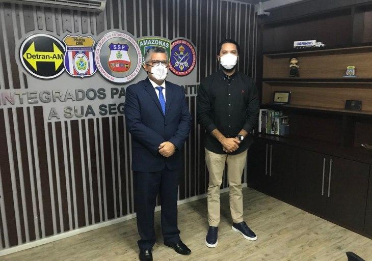 Secretário de Segurança reúne com ministro da Venezuela e alinha ações integradas