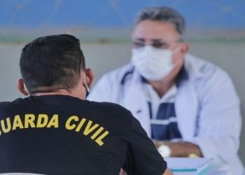 Prefeito Andreson Cavalcante participa de ação de saúde aos Profissionais da Guarda Civil de Autazes