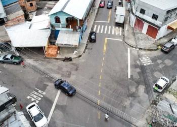 Centro Histórico de Manaus ganha nova sinalização para ordenar trânsito