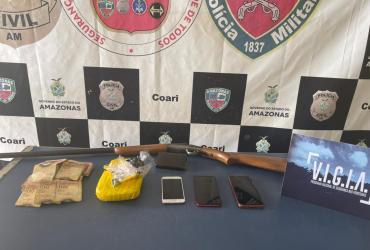 PC prende homem envolvido com tráfico de drogas e pirataria no município de Coari
