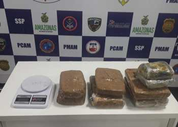 Agentes da Base Arpão apreendem mais de 7 quilos de drogas escondidas em embarcação