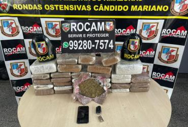 Rocam detém dois homens com 38 quilos de entorpecentes em porto do bairro São Raimundo