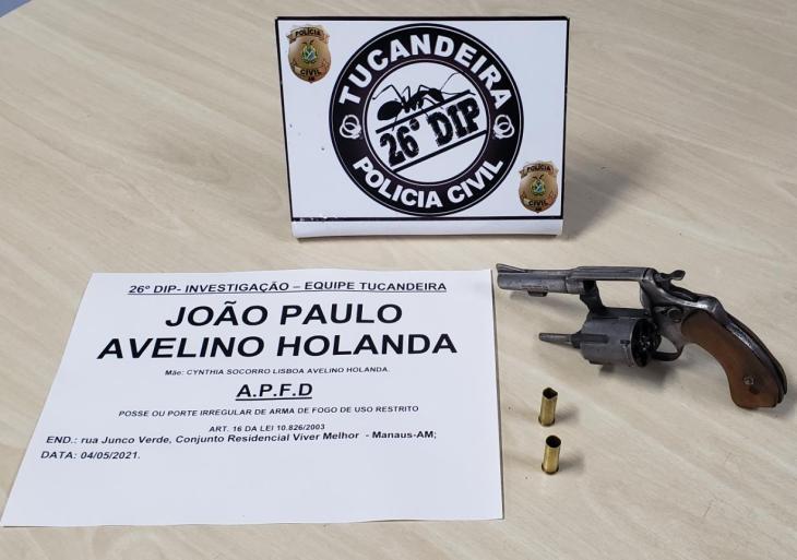 PC-AM prende homem por porte irregular de arma de fogo, na zona norte da capital