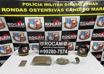 Rocam detém homem com mais de 1 quilo de entorpecentes no bairro Petrópolis