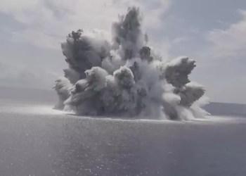 Teste de explosivos da Marinha causa terremoto nos EUA