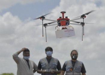 Índia testa envio de medicamentos com drone a zonas remotas