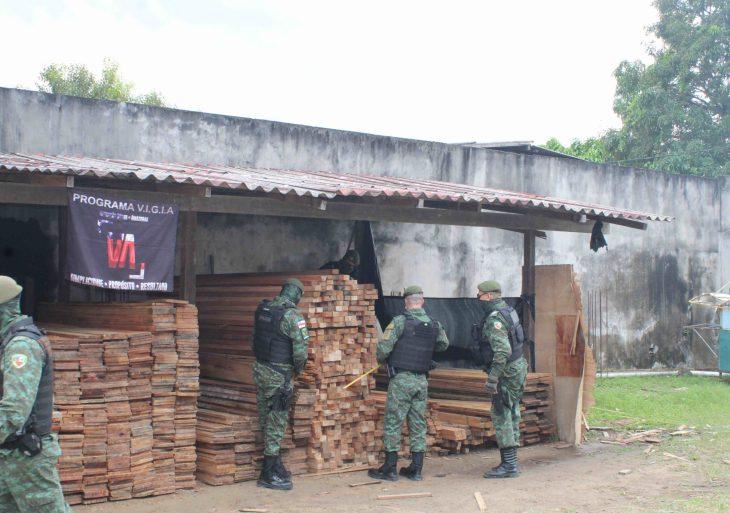 Batalhão Ambiental apreendeu mais de 20 metros cúbicos madeira ilegal, no São José