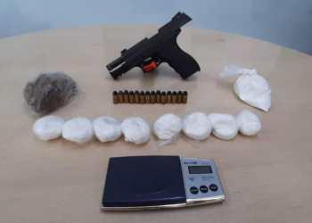 Durante ação 'Pronta Resposta', arma e drogas são apreendidas no bairro Glória, em Manaus