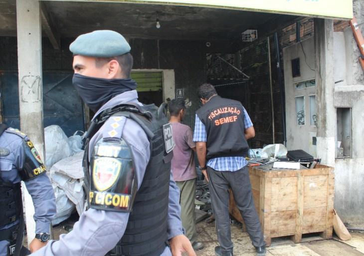 """Quatro toneladas de equipamentos suspeitos de furto são apreendidas em operação """"Hefesto"""""""