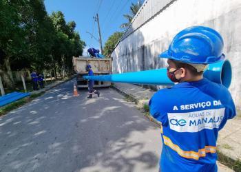Águas de Manaus atende solicitação de vereador Peixoto e instala rede de água na Comunidade Coliseu