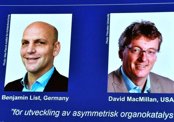 Nobel de Química é concedido a Benjamin List e David W.C. MacMillan