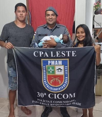 Policial militar salva a vida de recém-nascido, no bairro João Paulo