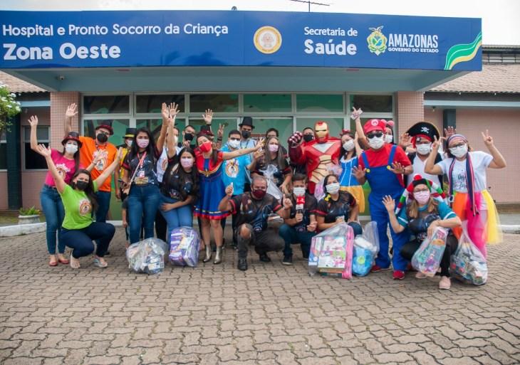 'Heróis nos hospitais' leva alegria as crianças de hospitais infantis de Manaus pelo sexto ano consecutivo