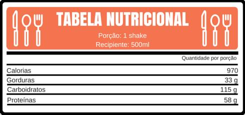 TABELA NUTRICIONAL abacate achocolatado