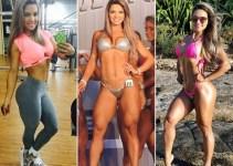 Aline Barreto, o antes e depois da Atleta Fitness