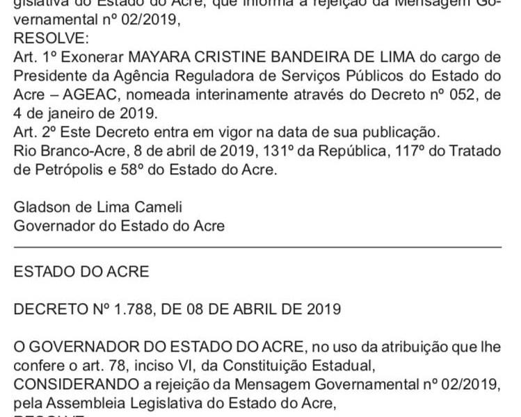 Cumpriu parte da palavra – Nora de Bestene é exonerada da Ageac