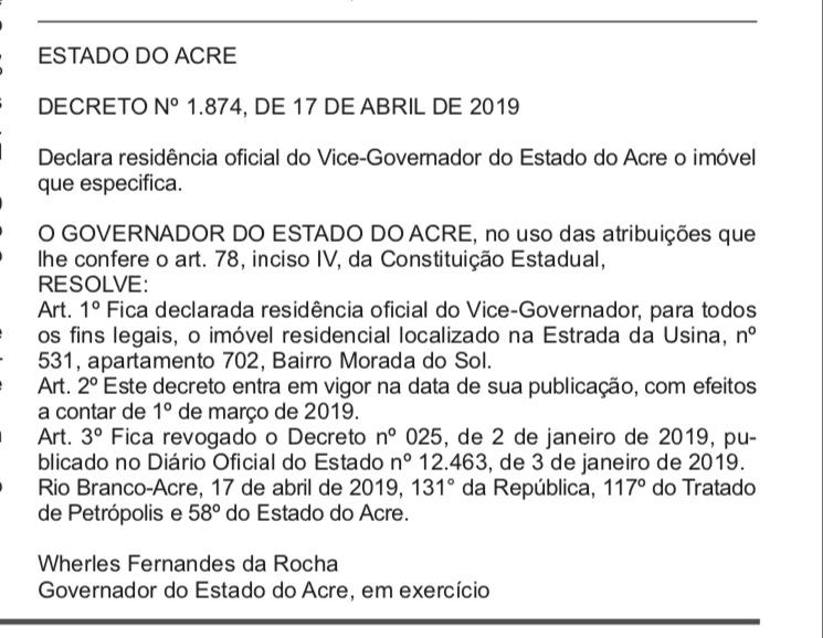 Major vice muda de endereço; alugou apartamento do petista Raimundo Angelim