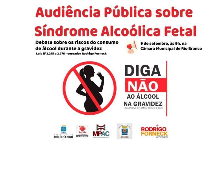 Câmara de Vereadores promove audiência pública sobre Síndrome Alcoólica Fetal