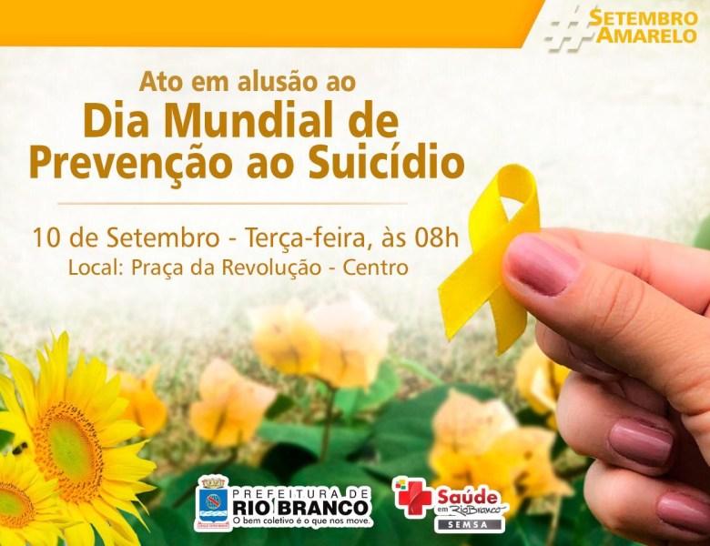 Setembro Amarelo: prefeitura lança programação com ações voltadas à prevenção do suicídio e valorização da Vida
