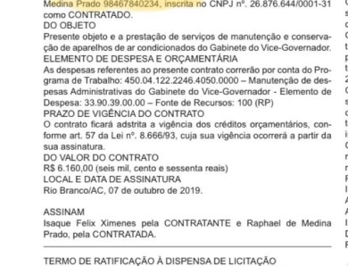 Documento oficial do gabinete de Rocha aparece como se ainda fosse da vice-governadora