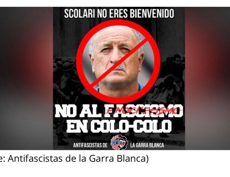 Torcida do Colo-Colo repudia possível chegada de Felipão, que já elogiou Pinochet