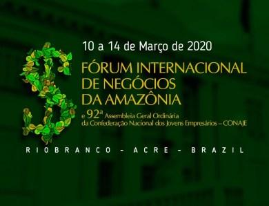 Abertas inscrições para o Fórum Internacional de Negócios da Amazônia