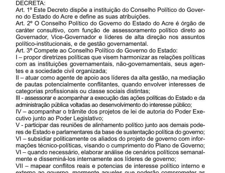Gladson institucionaliza conselho político, resta saber quem ouvirá os conselhos