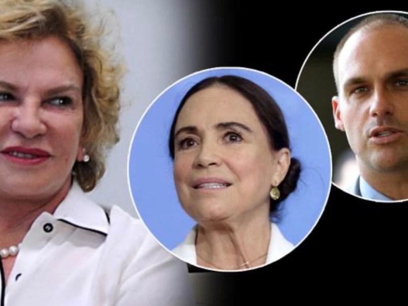 PT decide denunciar Eduardo Bolsonaro e Regina Duarte por fake news contra Marisa Letícia