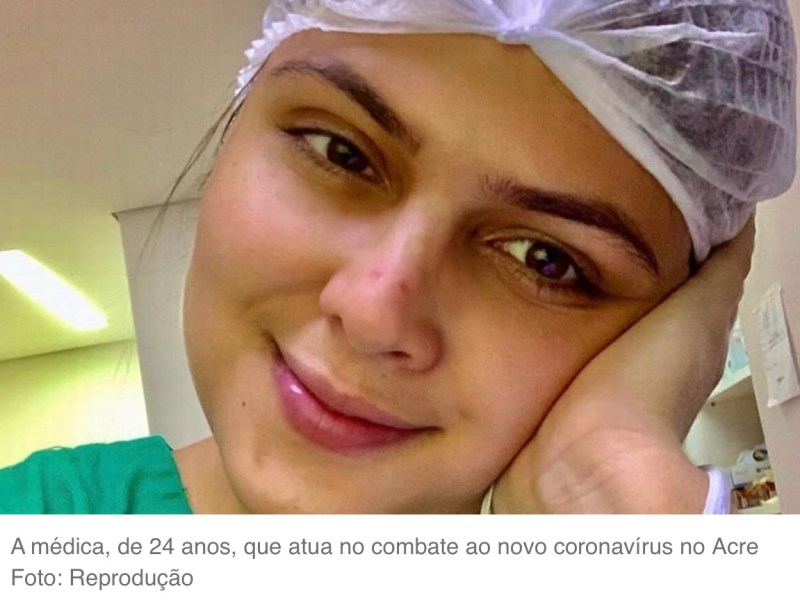 MÉDICA BLOGUEIRA ATUA NA LINHA DE FRENTE DO COMBATE AO CORONAVÍRUS NO ACRE