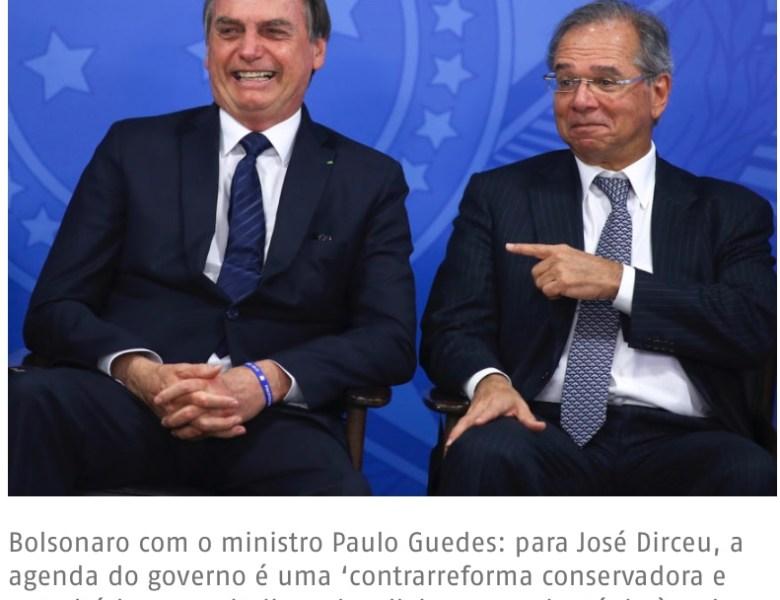 Crescimento de Bolsonaro mostra eleitorado dividido em centro-direita e centro-esquerda, analisa José Dirceu