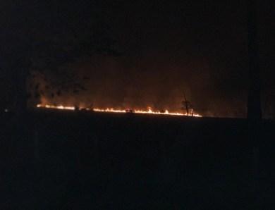 Grande incêndio é registrado na fazenda da família do secretário de Meio Ambiente de Gladson