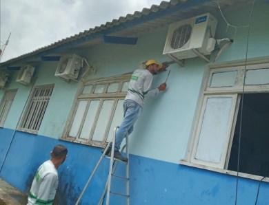 FCCV realiza serviços de manutenção na UBS Abel Pinheiro, no bairro Formoso