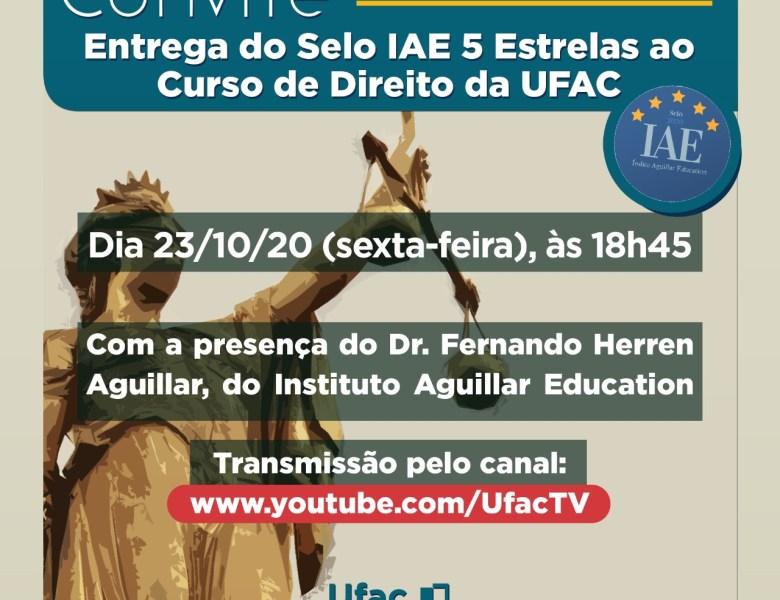 Curso de Direito da Ufac recebe selo por desempenho em exame da OAB e Enade
