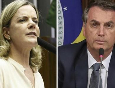 'Quando emissoras daqui farão o mesmo com Bolsonaro?', pergunta Gleisi sobre suspensão de discurso de Trump nos EUA