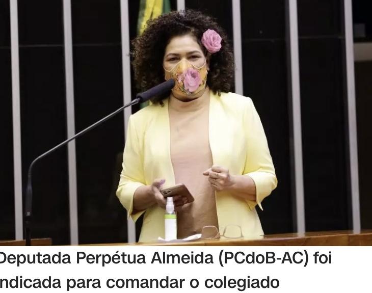 Maia indica deputada Perpétua Almeida, do PCdoB, para coordenar grupo que acompanhará leilão 5G