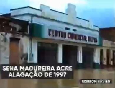 Vídeo: Internautas resgatam filme de enchente em Sena Madureira de 1997