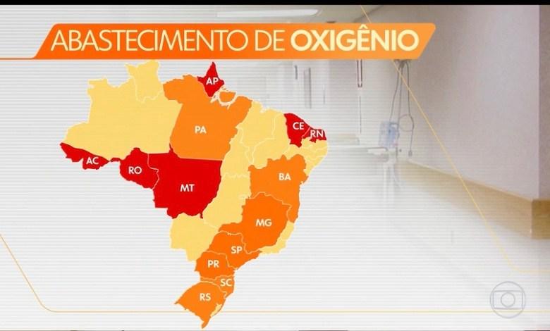 Saúde informou que seis estados são os mais críticos para falta de oxigênio, diz PGR