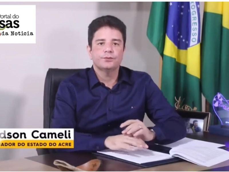 PEGA NA MENTIRA: Não é verdade que Gladson Cameli deixou de receber salários durante três meses na pandemia