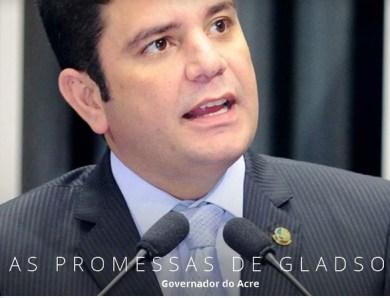 Em dois anos e meio de mandato, Gladson Cameli cumpriu 10 das 68 promessas de campanha no AC