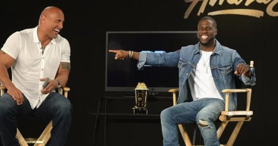 Dwayne Johnson e Kevin Hart