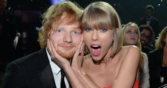 Ed Sheeran e Taylor Swift - Grammys 2016