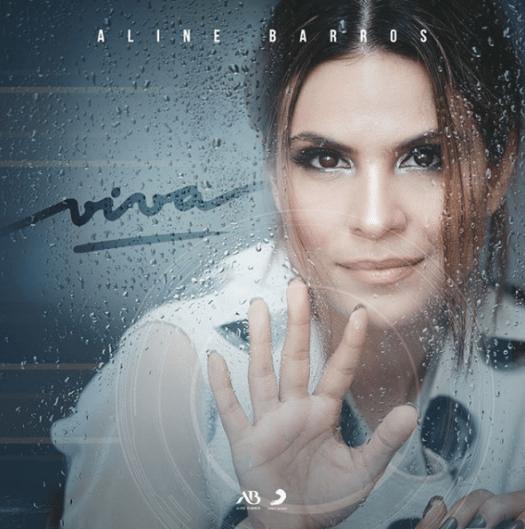 "Capa do CD gospel ""Viva"" de Aline Barros."