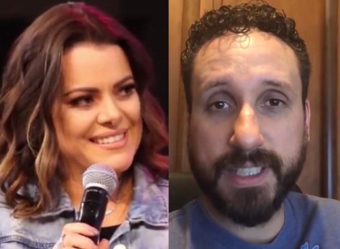 Cantores gospel Ana Paula Valadão e Leonardo Araújo.
