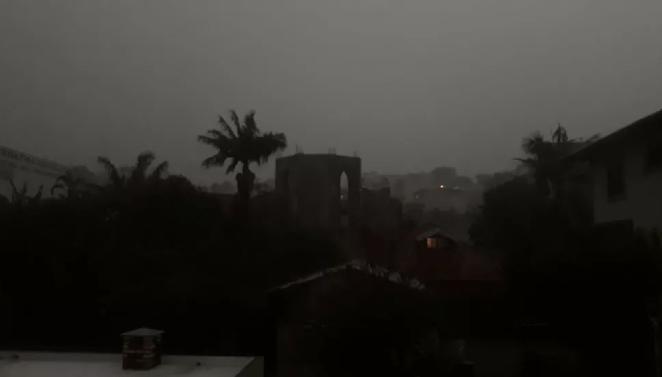 Dia vira noite em SP. Imagens: Reprodução/Globo